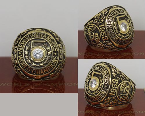 1953 MLB Championship Rings New York Yankees World Series Ring