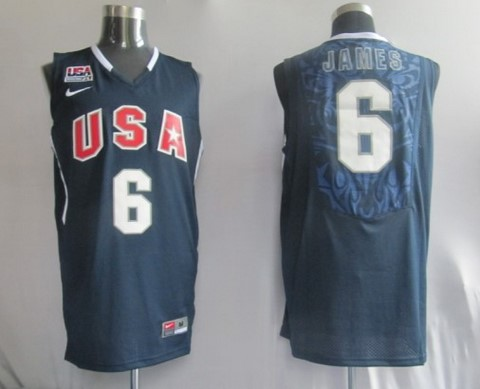 2010 USA Championship 6 James Blue Jerseys