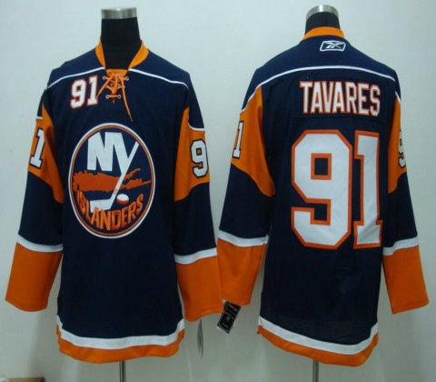 NHL Jerseys Channel Islands #91 TAVARES blue
