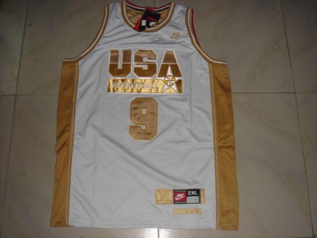 NBA Olympic USA #9 JORDAN WHITE Basketball Jersey
