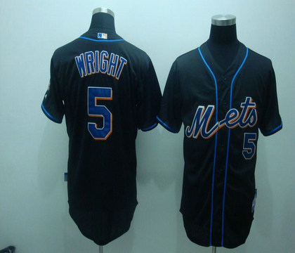 reputable site 6cdc9 23c01 mlb new york mets 5# Wright black jerseys on sale,for Cheap ...
