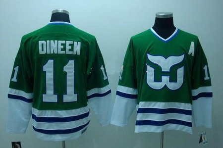 Hartford Whalers jerseys 11 DINEEN green color Hockey Jerseys