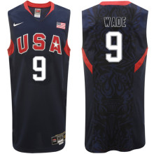 2008 USA Basketball #9 Dwayne Wade Swingman Blue Jersey