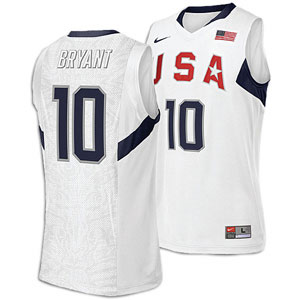 2008 USA Basketball #10 Kobe Bryant Swingman White Jersey