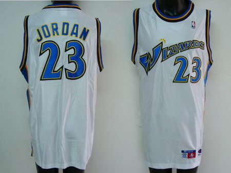 Washington Wizards 23 JORDAN white jerseys