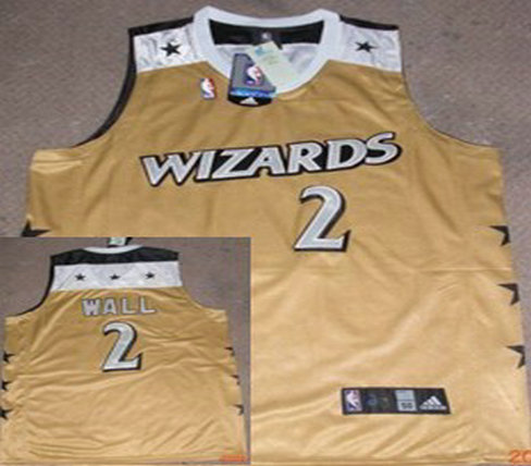 Washington Wizards #2 Wall Yellow Jersey