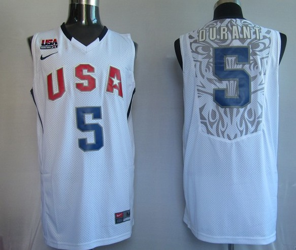 NBA Jersey USA 5# Durant White