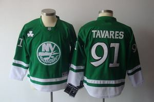 2011 st pattys day new york islanders 91 john tavares green jerseys