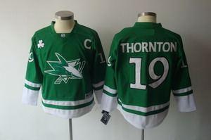 2011 st pattys day san jose sharks 19 joe thornton green jerseys