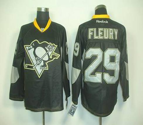 new concept c23b7 3a86d 2012 black Pittsburgh Penguins 29 M Fleury jerseys on sale ...