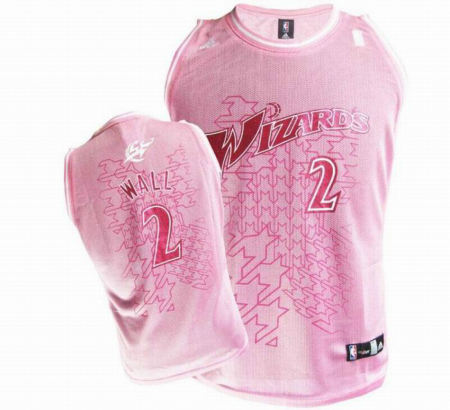 nba women jerseys wizards 2 wall pink
