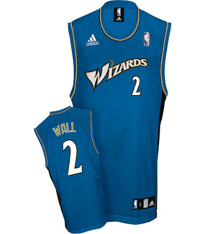 Washington Wizards 2 John Wall Replica Road Jerseys