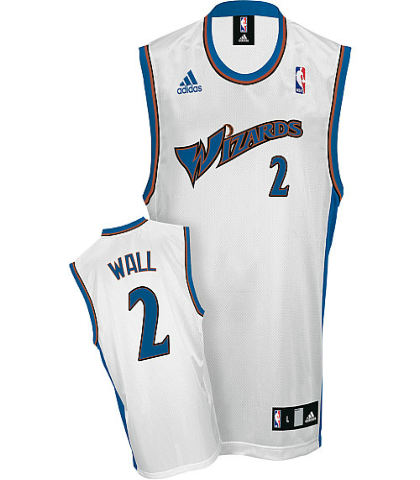 Washington Wizards 2 John Wall Replica Home Jerseys