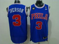 NBA Denver Nuggets #3 Iverson Purple Jerseys swingman