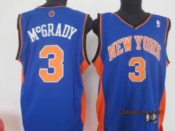 NBA New York Knicks #3 MCGRADY Purple Jerseys SWINGMAN