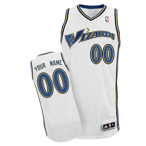 Wizards Personalized Authentic White Jersey (S-3XL)