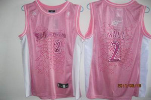 women Washington Wizards 2 John Wall pink jersey