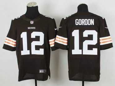 2014 NEW Cleveland Browns #12 Josh Gordon Brown Team Color NFL Elite  for sale