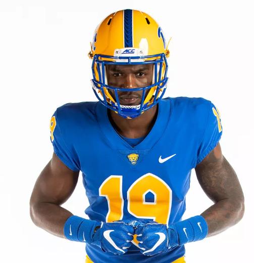 2019 Custom New Pittsburgh Panthers Pitt  Football Light Blue Jersey