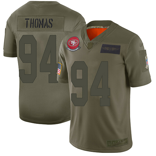 49ers #94 Solomon Thomas Camo Men's Stitched Football Limited 2019 Salute To Service Jersey