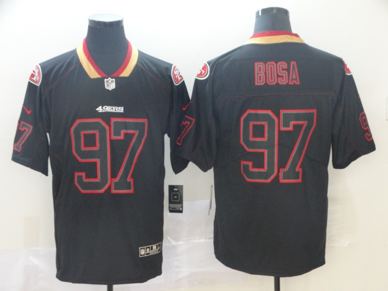 49ers 97 Nick Bosa Black Shadow Legend Limited Jersey