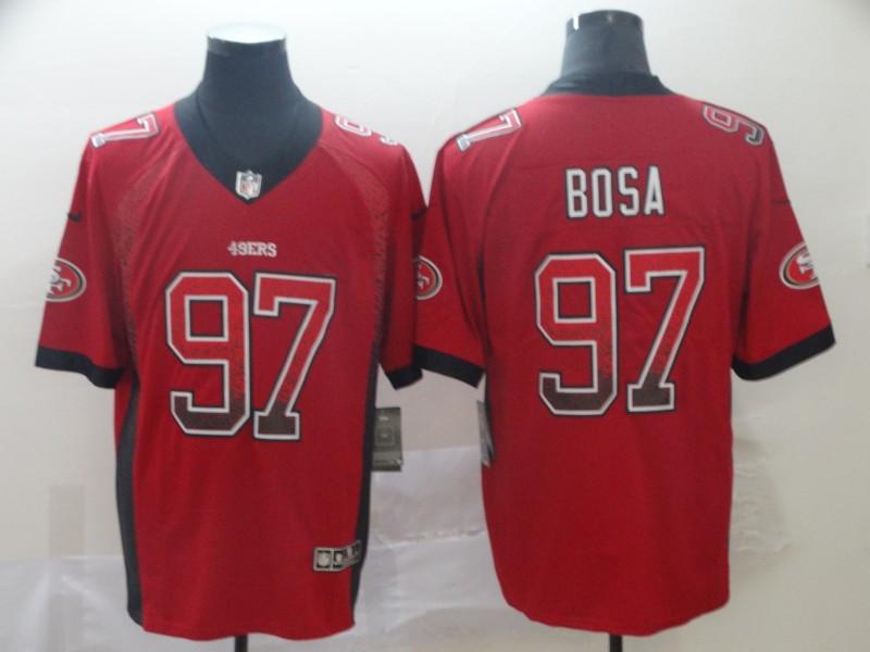 49ers 97 Nick Bosa Red Drift Fashion Limited Jersey