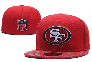 49ers Team Logo Red Fitted Hat LX
