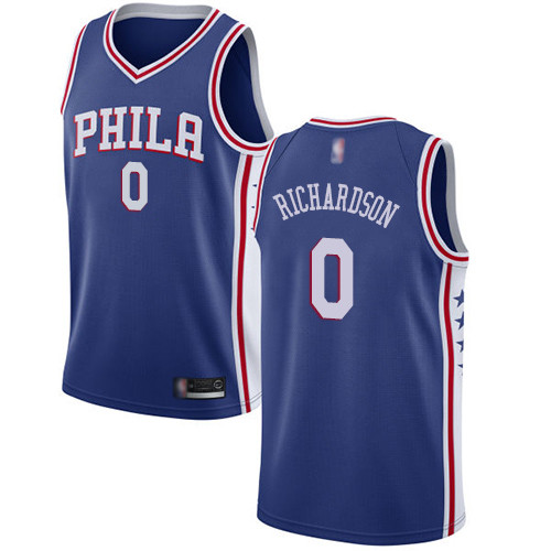 76ers #0 Josh Richardson Blue Basketball Swingman Icon Edition Jersey