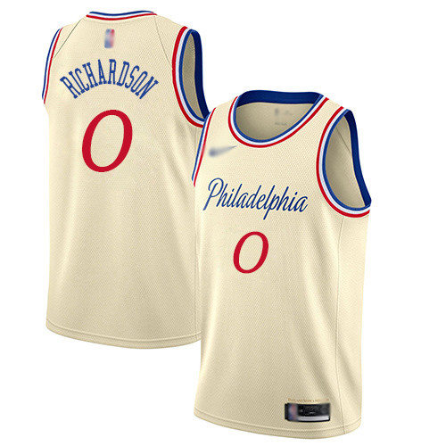 76ers #0 Josh Richardson Cream Basketball Swingman City Edition 2019 20 Jersey
