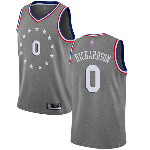 76ers #0 Josh Richardson Gray Basketball Swingman City Edition 2018 19 Jersey