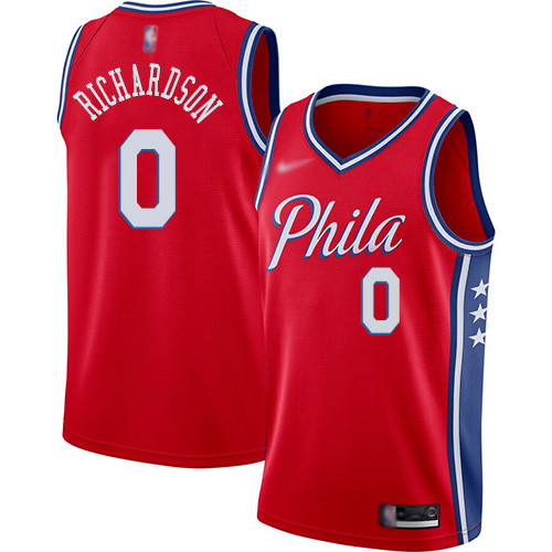 76ers #0 Josh Richardson Red Basketball Swingman Statement Edition 2019 2020 Jersey