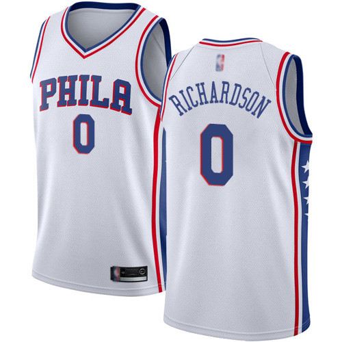 76ers #0 Josh Richardson White Basketball Swingman Association Edition Jersey