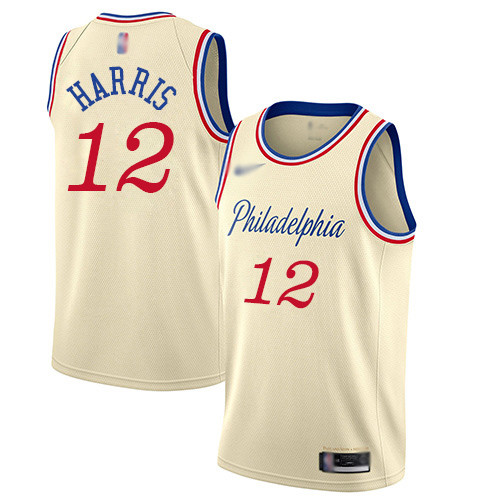 76ers #12 Tobias Harris Cream Basketball Swingman City Edition 2019 20 Jersey