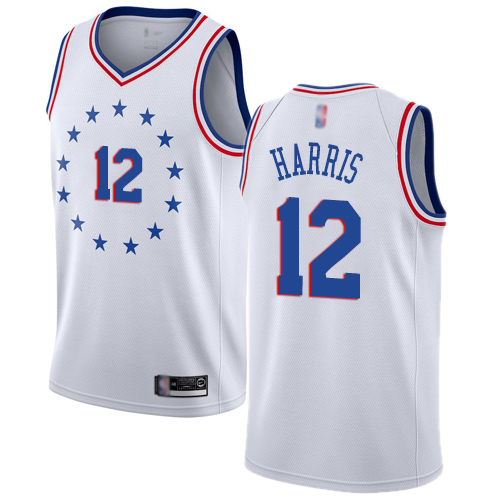76ers #12 Tobias Harris White Basketball Swingman Earned Edition Jersey