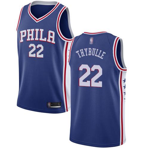 76ers #22 Mattise Thybulle Blue Basketball Swingman Icon Edition Jersey