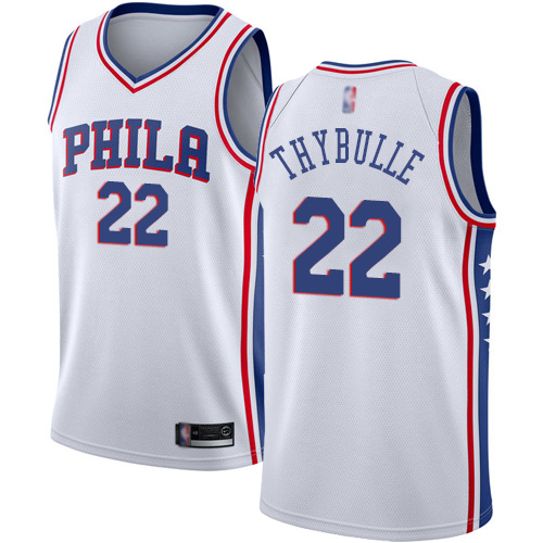 76ers #22 Mattise Thybulle White Basketball Swingman Association Edition Jersey