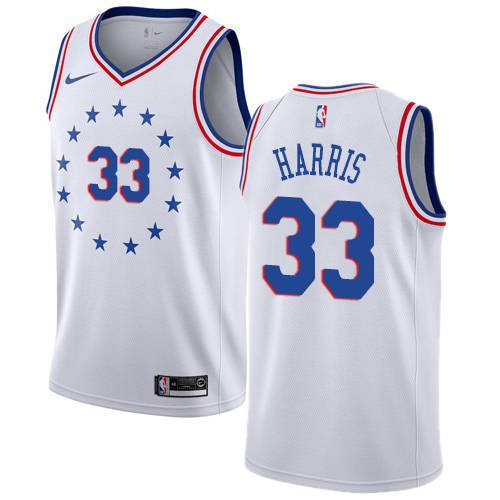 76ers #33 Tobias Harris White Basketball Swingman Earned Edition Jersey