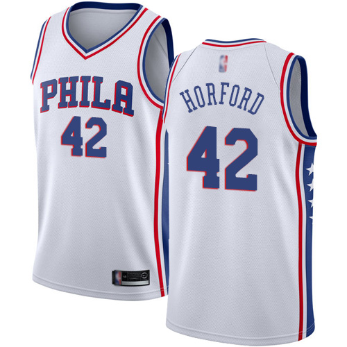 76ers #42 Al Horford White Basketball Swingman Association Edition Jersey