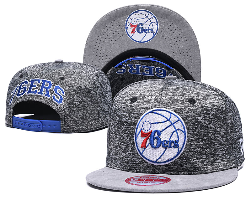 76ers Team Logo Gray Adjustable Hat TX