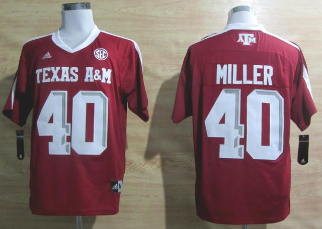 Addidas Texas A&M Aggies Von Miller 40 Football Authentic NCAA Jerseys