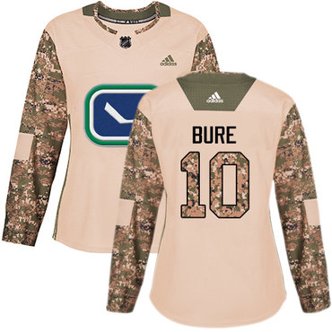 Adidas Canucks #10 Pavel Bure Camo Authentic 2017 Veterans Day Women's Stitched NHL Jersey