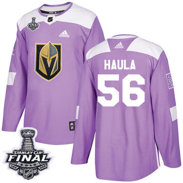 Adidas Golden Knights #56 Erik Haula Purple Authentic Fights Cancer 2018 Stanley Cup Final Stitched NHL Jersey