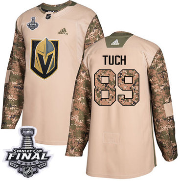 Adidas Golden Knights #89 Alex Tuch Camo Authentic 2017 Veterans Day 2018 Stanley Cup Final Stitched NHL Jersey