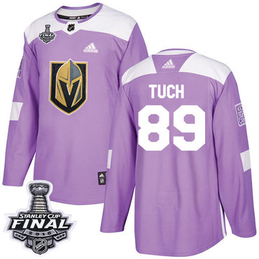 Adidas Golden Knights #89 Alex Tuch Purple Authentic Fights Cancer 2018 Stanley Cup Final Stitched NHL Jersey