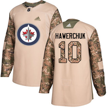 Adidas Jets #10 Dale Hawerchuk Camo Authentic 2017 Veterans Day Stitched NHL Jersey