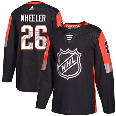 Adidas Jets #26 Blake Wheeler Black 2018 All-Star Central Division Authentic Stitched Youth NHL Jersey