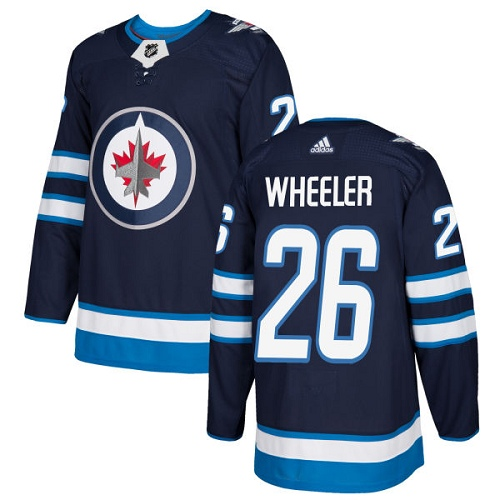 Adidas Jets #26 Blake Wheeler Navy Blue Home Authentic Stitched Youth NHL Jersey