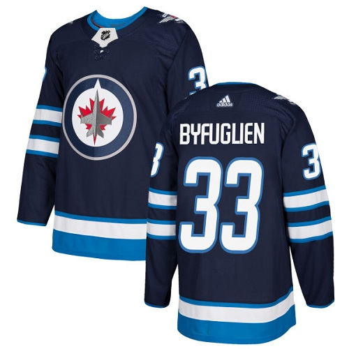 Adidas Jets #33 Dustin Byfuglien Navy Blue Home Authentic Stitched Youth NHL Jersey