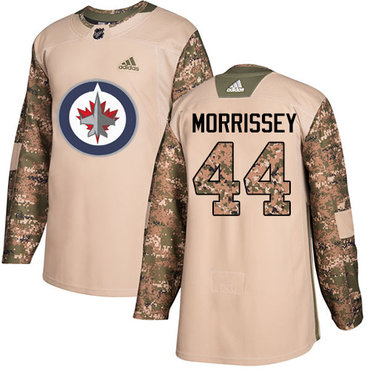 Adidas Jets #44 Josh Morrissey Camo Authentic 2017 Veterans Day Stitched NHL Jersey