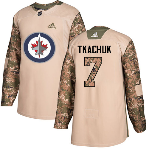Adidas Jets #7 Keith Tkachuk Camo Authentic 2017 Veterans Day Stitched NHL Jersey